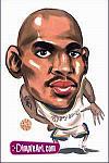 Caricatura NBA de Jerry Stackhouse por DimpleArt
