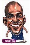 Caricatura NBA de Kevin Garnett por DimpleArt
