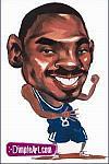 Caricatura NBA de Kobe Bryant por DimpleArt