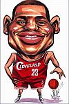 Caricatura NBA de LeBron James por DimpleArt