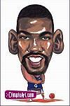 Caricatura NBA de Michael Finley por DimpleArt