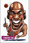 Caricatura NBA de Michael Jordan por DimpleArt