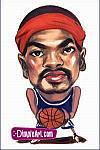 Caricatura NBA de Rasheed Wallace por DimpleArt