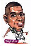 Caricatura NBA de Ray Allen por DimpleArt