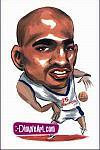 Caricatura NBA de Vince Carter por DimpleArt