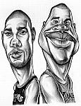 Caricatura NBA de Tim Duncan por Ismael Rold�n