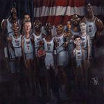Caricatura NBA de Clyde Drexler por Jota Leal