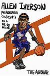 Caricatura NBA de Allen Iverson por Makoto