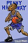 Caricatura NBA de Anfernee Hardaway por Makoto