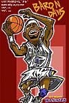 Caricatura NBA de Baron Davis por Makoto