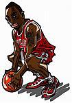 Caricatura NBA de Ben Gordon por Makoto