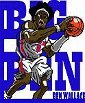 Caricatura NBA de Ben Wallace por Makoto