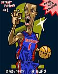 Caricatura NBA de Chauncey Billups por Makoto