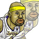 Caricatura NBA de Derek Fisher por Makoto