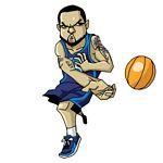 Caricatura NBA de Deron Washington por Makoto