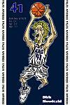 Caricatura NBA de Dirk Nowitzki por Makoto