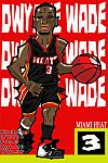 Caricatura NBA de Dwyane Wade por Makoto