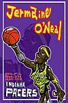 Caricatura NBA de Jermaine O'Neal por Makoto