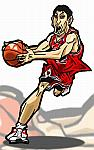 Caricatura NBA de Kirk Hinrich por Makoto