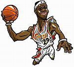Caricatura NBA de LeBron James por Makoto