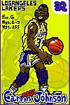 Caricatura NBA de Magic Johnson por Makoto