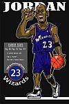 Caricatura NBA de Michael Jordan por Makoto