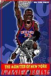 Caricatura NBA de Patrick Ewing por Makoto