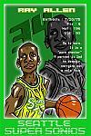 Caricatura NBA de Ray Allen por Makoto