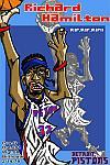 Caricatura NBA de Richard Hamilton por Makoto