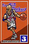 Caricatura NBA de Stephon Marbury por Makoto