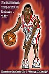 Caricatura NBA de Tracy McGrady por Makoto
