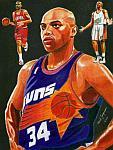 Caricatura NBA de Charles Barkley por Mark Jorgenson