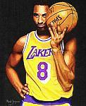 Caricatura NBA de Kobe Bryant por Mark Jorgenson