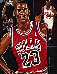 Caricatura NBA de Michael Jordan por Mark Jorgenson