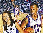 Caricatura NBA de Raja Bell por Mark Jorgenson