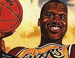 Caricatura NBA de Shaquille O'Neal por Mark Jorgenson