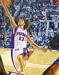Caricatura NBA de Steve Nash por Mark Jorgenson