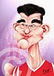 Caricatura NBA de Yao Ming por Omar Pérez