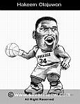 Caricatura NBA de Hakeem Olajuwon por Silvermeow