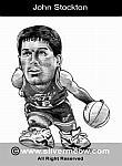 Caricatura NBA de John Stockton por Silvermeow
