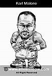 Caricatura NBA de Karl Malone por Silvermeow