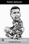Caricatura NBA de Kevin Johnson por Silvermeow