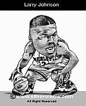 Caricatura NBA de Larry Johnson por Silvermeow