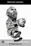 Caricatura NBA de Michael Jordan por Silvermeow
