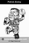 Caricatura NBA de Patrick Ewing por Silvermeow