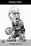 Caricatura NBA de Reggie Miller por Silvermeow