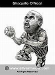 Caricatura NBA de Shaquille O'Neal por Silvermeow