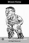 Caricatura NBA de Shawn Kemp por Silvermeow