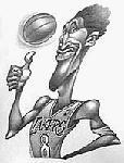 Caricatura NBA de Kobe Bryant por Vizcarra