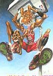 Caricatura NBA de Michael Jordan por Vizcarra